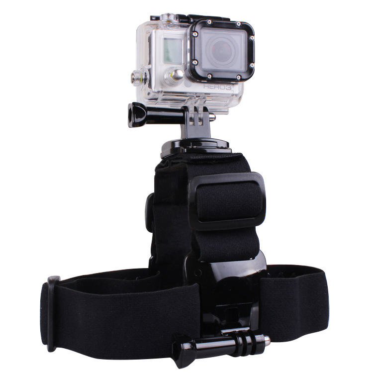 360 Degree Rotation Head Band Strap Belt with Dual Mount Holder for Gopro Hero 4 3+ 3 2 SJCAM Xiaomi yi Camera Gopro Accessories
