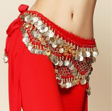 Новый стиль монеты танец живота Талия цепи Hip шарф живота Танцы ремень, 9 видов цветов для вашего выбора.(China)