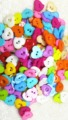 50PC 11mm/13MM sewing&scrapbooking accessories colorful rose flower cartoon buttons  for Children clothes and diy accessories