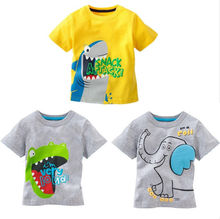 NEW Children's Blouse Short Sleeve T-shirt Kids Baby boys Clothing Tshirts Summer Clothes Cartoon Age 1-6 Years