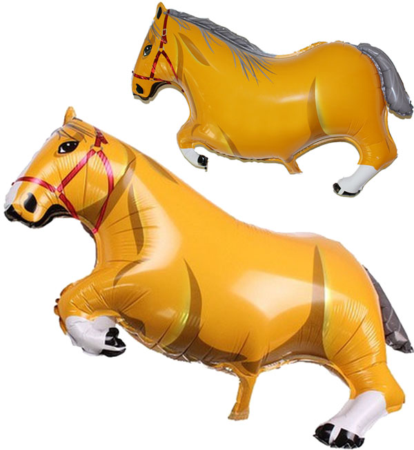 Big Yellow horse foil balloons Office decoration Event party supplies Store Promotional Cute classic toys 10 pcs/lot wholesale(China (Mainland))