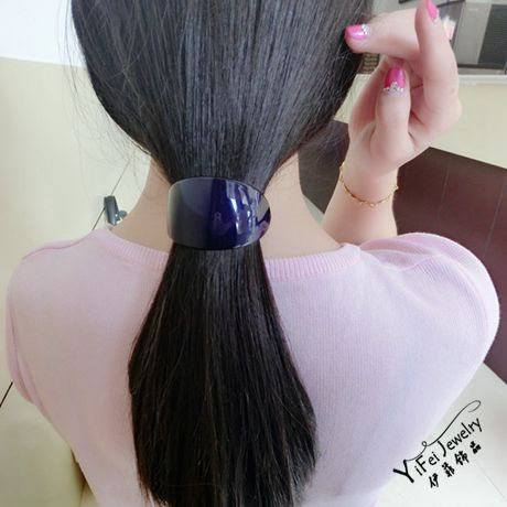brand FAVOUR professional OL hair tire top Spring clip hairpin acrylic horsetail Ponytail holder barrettes - Yifeijewelry store