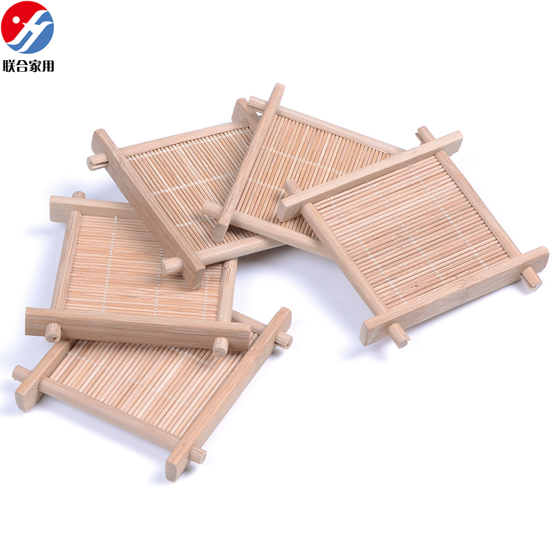5pcs Lot Bamboo Cup Holder Household Table Mat Coasters