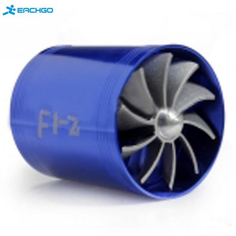 New Best Promotion Blue Universal Car Fuel Gas Saver Supercharger For Turbine Turbo Charger Air Intake Fan Turbocharger(China (Mainland))