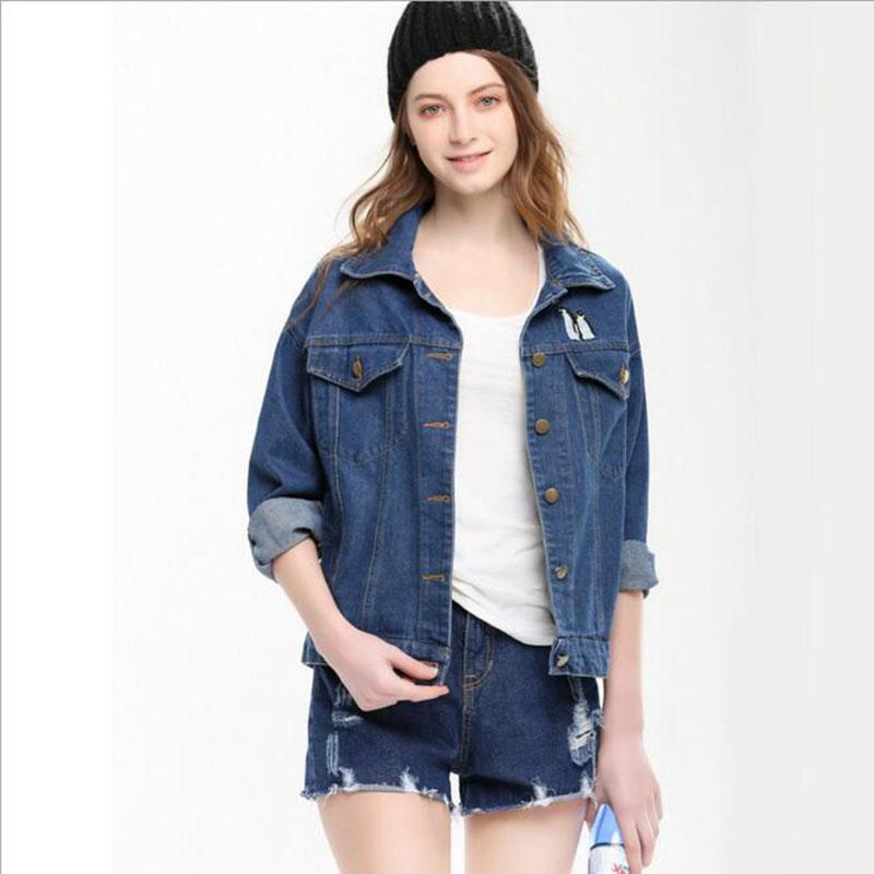 Cute cartoon print denim jacket women jeans 2015 autumn winter coat Jackets Womenu0026#39;s Boyfriend ...