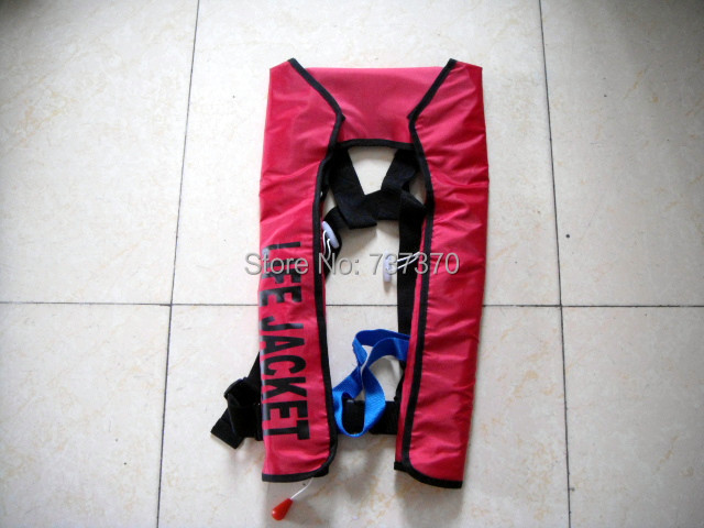 New Free shipping Adult Hot selling Manual Inflatable life jacket for 150N(China (Mainland))