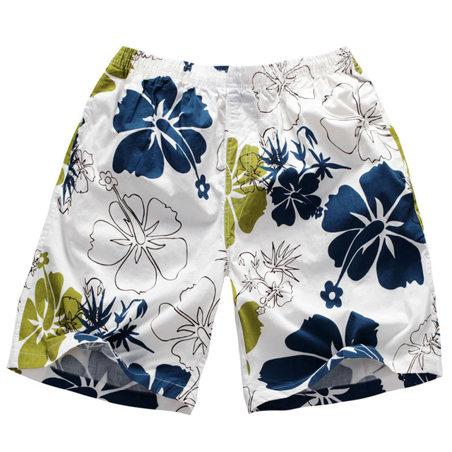 Plus size cotton beach pants boardshorts fashion swimwear swim trunks 5 minutes of pants in the summer wear comfortable D105