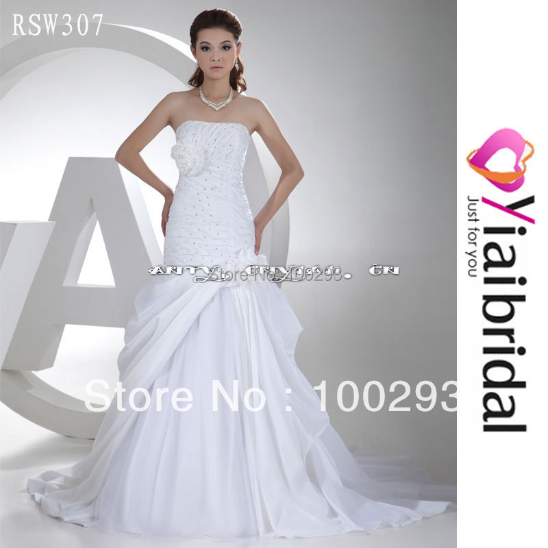 Rsw307 rhinestone wedding dress mermaid corset real sample for Nice cheap wedding dresses