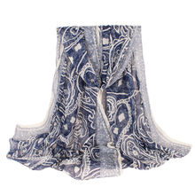 Hot sale women paisley scarf voile print shawl fashion design scarves and shawl cosy printed muslim scarfs arab hijab(China (Mainland))