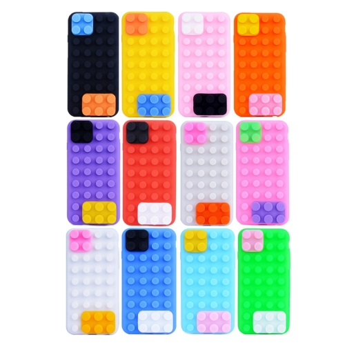 Newest Building Block Texture Mobile Phone Cover Phone Protector Case Silicone case for iPhone 6(China (Mainland))