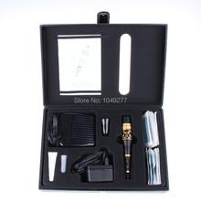 Free Shipping Eyebrow Tattoo Machine Kit 1pcs Tattoo Gun & 1pcs Great Power &1pcs Foot Pedal & Tattoo Needles(China (Mainland))