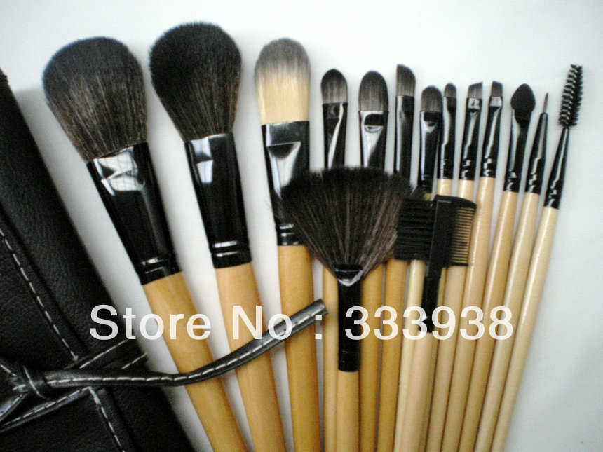 Free Shipping 15 PCS Set Makeup Brush Set Synthetic Makeup Brush Professional Cosmetic Set with Cosmetic Bag STOCK CLEARANCE!!(China (Mainland))
