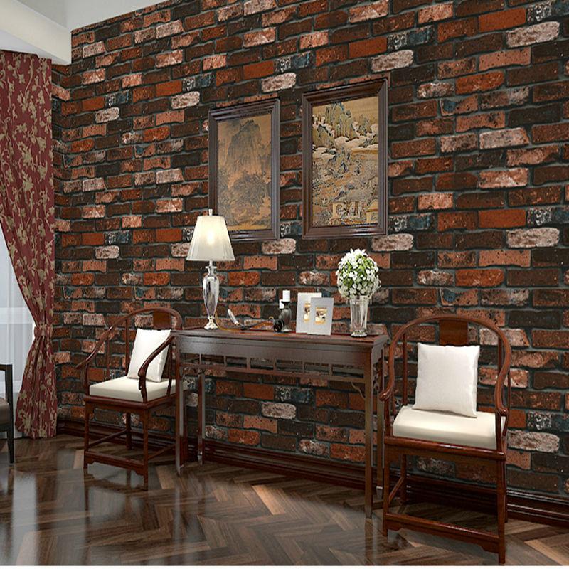 Tecido estampado de tijolo vender por atacado tecido for Papel de pared rustico
