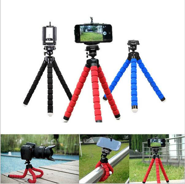 Hot Sale Car Phone <font><b>Holder</b></font> Flexible Octopus Tripod Bracket Selfie <font><b>Stand</b></font> Mount Monopod Styling Accessories For Mobile Phone Camera