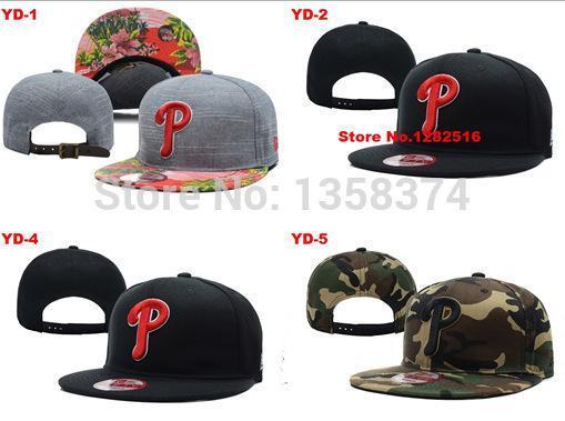 NO-1 Free shipping Best quality PHILADELPHIA PHILLIES bone black grey 18 style Adjustable Hat cap baseball Dangle Snapbacks(China (Mainland))
