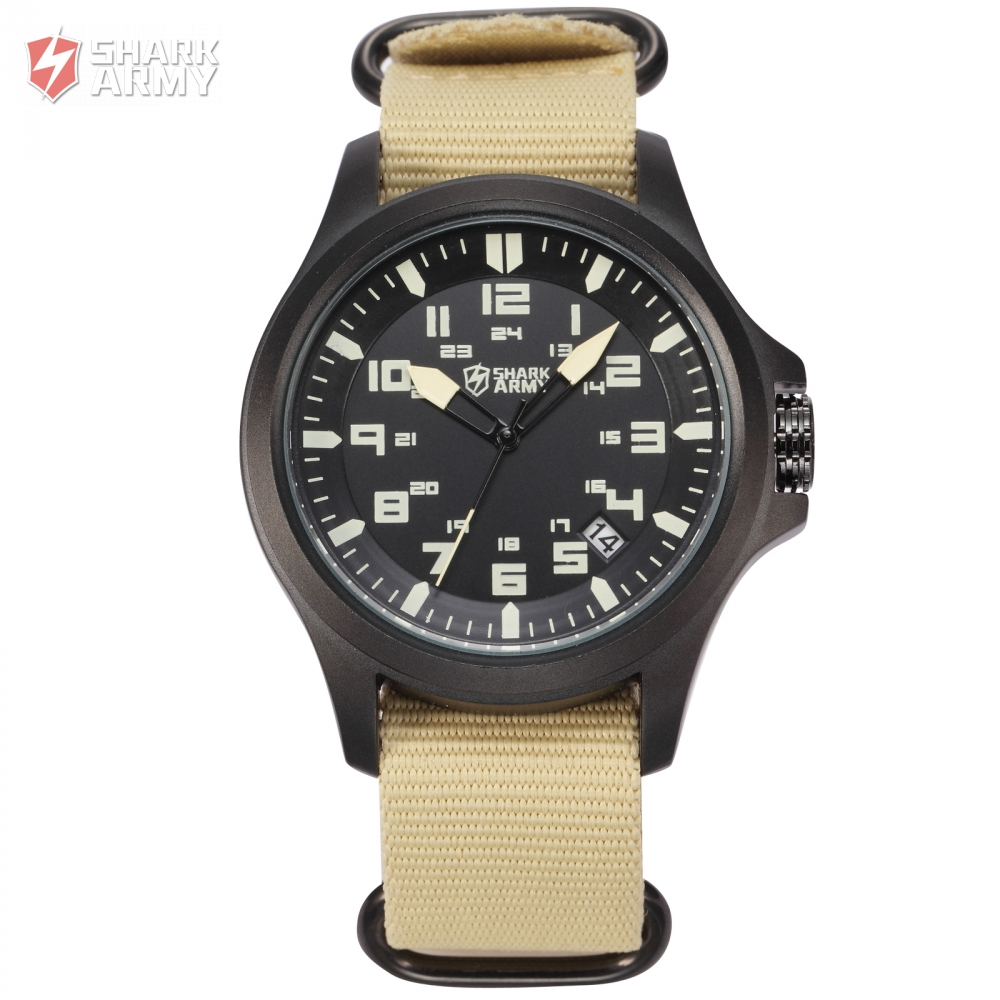 avenger shark army military watches black date display. Black Bedroom Furniture Sets. Home Design Ideas