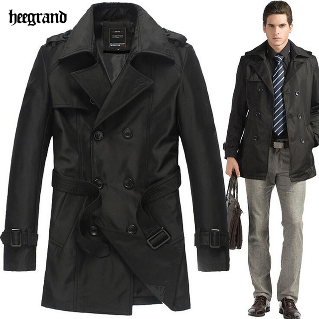 Весна Осень мужские Пальто 2016 Мода Длинное Пальто Двойной Брестед мужская Открытый Пальто Марка Плащ Для Мужчин MWF157