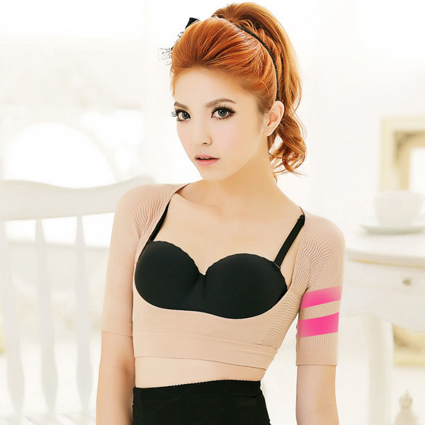 Women's Slimming Shapping Cami Tops Short Sleeve Bust Lifts Up Vest Shapewear(China (Mainland))