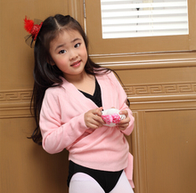 Children ballet dance sweater girls thermal cappa kids gymnastic coat exercise clothing thicken tops autumn winter free shipping