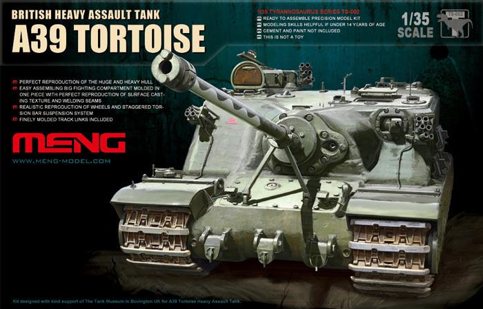 MENG MODEL TS-002 1/35 A39 Bristish Heavy Assault Tank Plastic Model Kits Christmas gifts(China (Mainland))