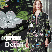 Buy Mulberry silk natural satin fabric dress shirt crepe DE chine comfortable smooth tissu au meter bright cloth telas for $27.16 in AliExpress store