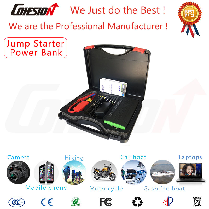 Car Jump Starter Mini Multi-function Power Supply USB Charger Flashlight 12800mAh(China (Mainland))