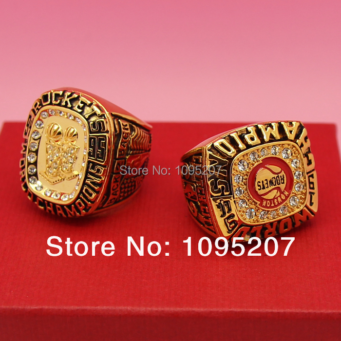 1994, 1995, Houston Rockets Basketball championship ring combination of alloys<br><br>Aliexpress