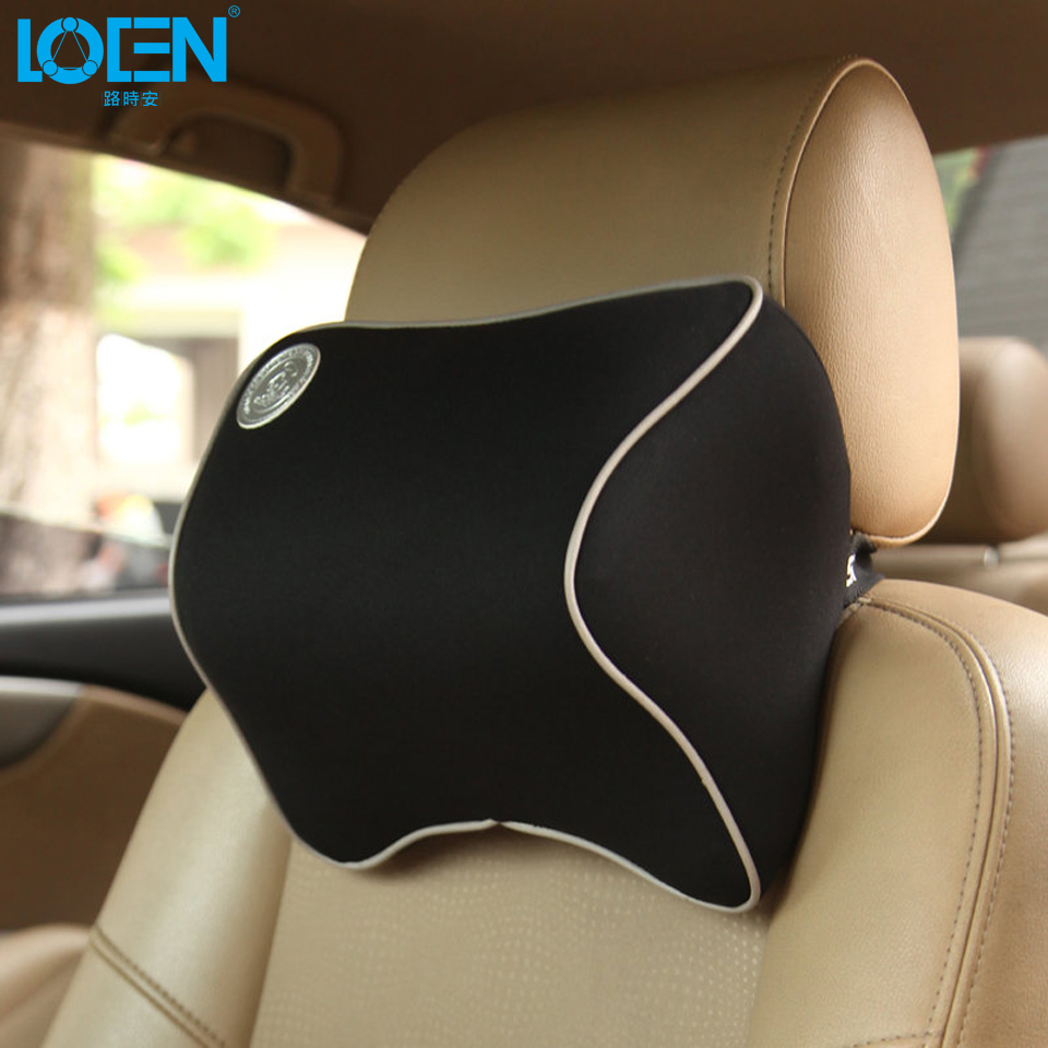 1 PCS Car Pillow Summer Space Memory Fabric Neck Headrest Car Covers Vehienlar font b Plaid