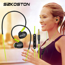 SZKOSTON Profession In-Ear Sport Earphones Running Headphones Stereo Super Bass Headset with MIC for iPhone Mobile Phone MP3
