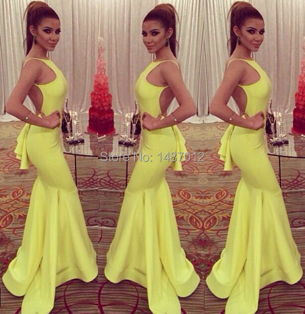 Yellow Cocktail Dresses Online 73