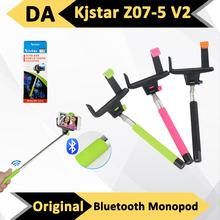Original Kjstar Z07-5 V2 Bluetooth Extendable Handheld Selfie Monopod Pole Stick For Cell Phone iPhone 6 5S 5 Samsung Galaxy HTC