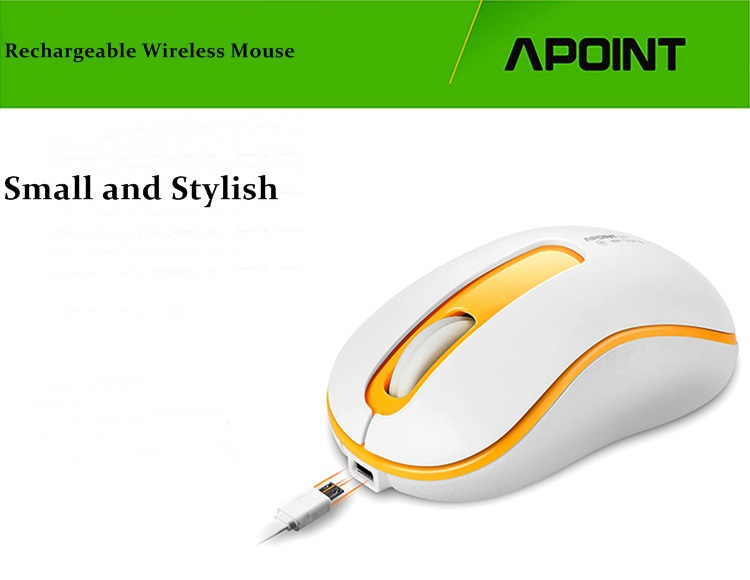 Apoint M201 2.4GHz Rechargeable Silent Wireless Optical Notebook Desktop Mouse(China (Mainland))