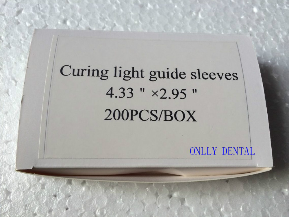 Free Shipping 200pcs/box Dental Disposable Curing Light Guide Sleeves<br><br>Aliexpress
