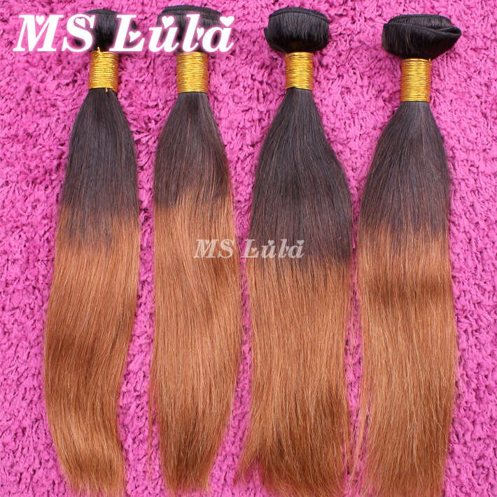 Queen hair Products Straight Brazilian Ombre hair extensions 5pcs lot Free Shipping DHL Soft and Silky No tangle No shedding<br><br>Aliexpress