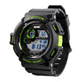 SKMEI S shock Men Army LED Digital 50M Waterproof Rubber Sports Wrist Watch
