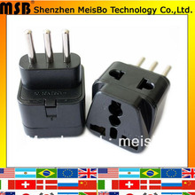 Buy Black 10A 250V ABS material italy EU plug adaptor Uruguay 500pcs free FEDEX for $568.10 in AliExpress store