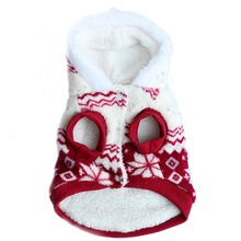 Pets Dog Winter Coat Fleece Snowflake Printed Dog Puppy Clothes Appral Jacket XS S M L XL(China (Mainland))