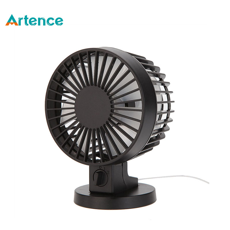 Portable Creative Double-vane Mini USB Desk Fan For Home Office ABS Electric Desktop Computer Fan With Double Side Fan Blades(China (Mainland))
