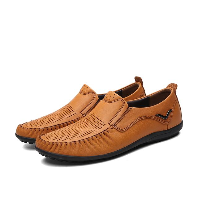 Плюс Большой Размер EUR38-47 Дышащий Мода Обувь Из Натуральной Кожи мужские Мокасины ...