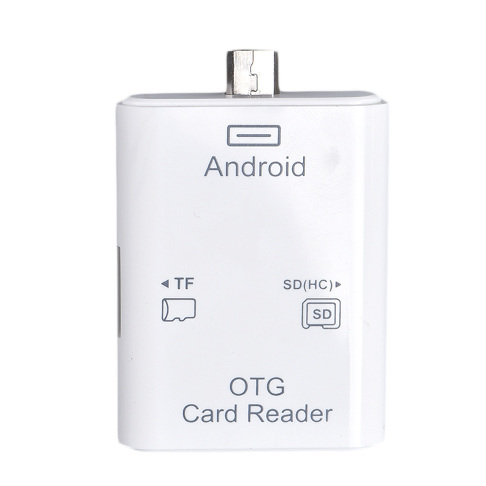 Beautiful Gift New Micro USB 5 pin OTG SD TF Card Reader Connection Kit For Android