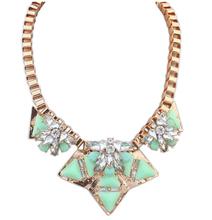 Star Jewelry 2015 New Design Fashion Maxi Necklace Women Gem Flowers Statement Necklaces & Pendants 4 Colors - WorLd LTD store