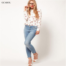 Women Red Lips Printed Blouse Long Sleeve Fashion Casual Shirts Women Summer Spring Autumn Tops High Quality Cheap Clothing(China (Mainland))