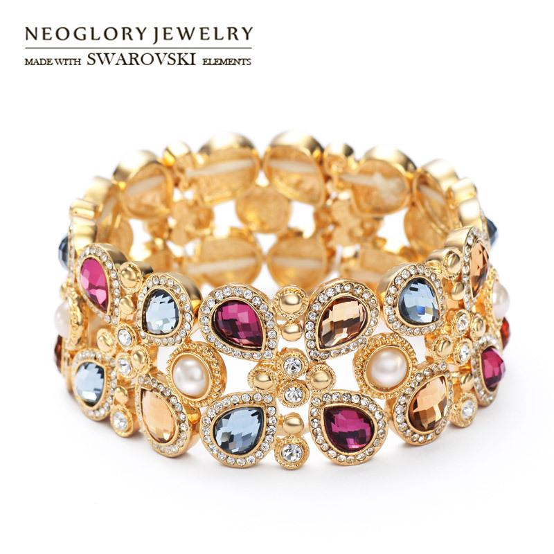 Браслет с брелоками Neoglory Jewelry Neoglory & & 14K 2015 бижутерия neoglory 014