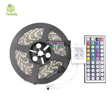 Buy Tanbaby DC12V RGB led strip light 5050 smd 5M 300led IP65 Waterproof Flexible led tape + 44key IR remote controller (No Power) for $11.49 in AliExpress store