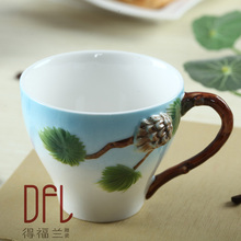 3D squirrel pure hand painted ceramic mug cup individuality creative mugs Couples of office coffee cup