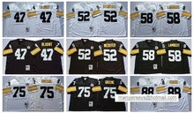 Pittsburgh Steelers mel blount Mike Webster Jack Lambert Joe Greene lynn swann Throwback for mens(China (Mainland))