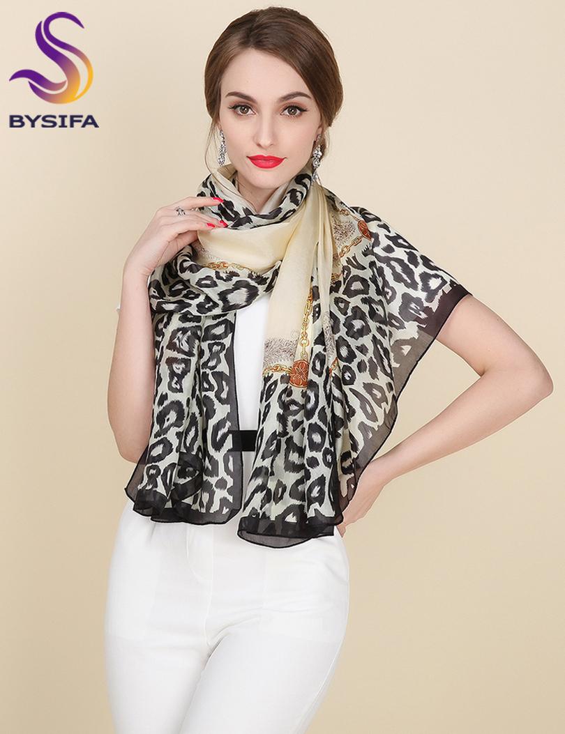Mulberry Silk Silk Scarf,Satin Fashion Leopard Print Silk Scarf Shawl Large Facecloth Apparel Accessories Design Long Scarf Cape(China (Mainland))