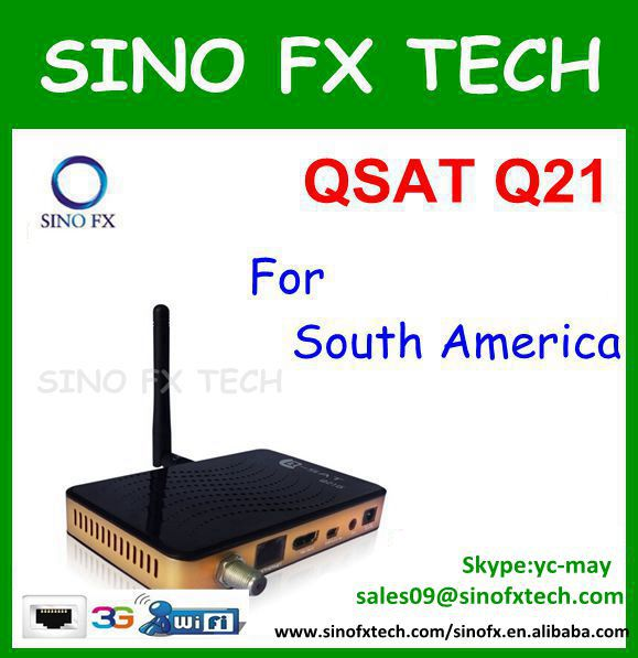 South America qsat q21g 21G hd gprs simcard receptor/Q-SAT Q21 receiver(China (Mainland))