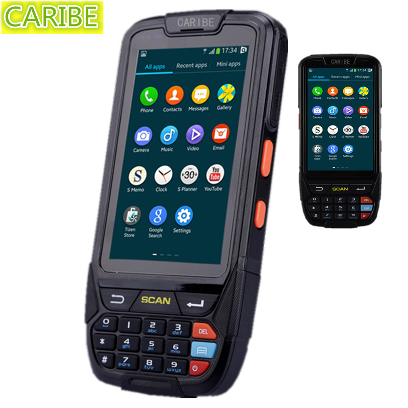 Caribe PL-40L android pda Touch screen waterproof 1d barcode scanner cell phone rugged nfc reader(China (Mainland))