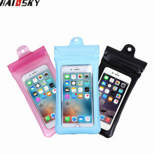 Buy Haissky Inflatable Waterproof Pouch Mobile Phone Bags Underwater Dry Case Cover iphone 5 5S 6 6S 7 Plus Samsung LG Xiaomi for $2.69 in AliExpress store